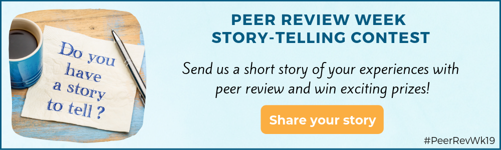 Peer Review Week Story-telling Contest
