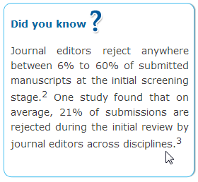 Peer review at journals