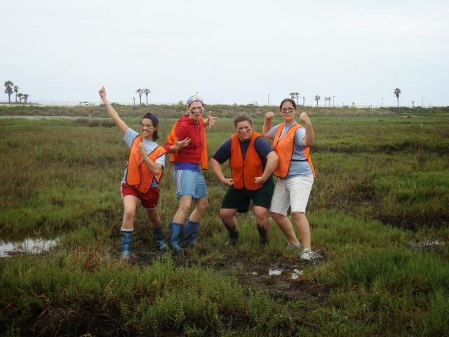 Evidence 3: The women of the Wetland Ecology Lab. Class, class, class.