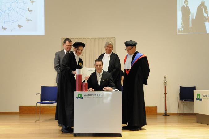 Signing my degree