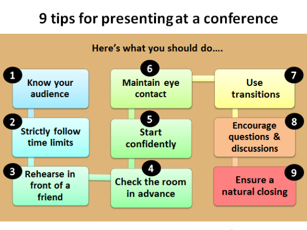 9 Tips for presenting at an academic conference