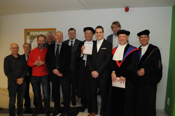 Group picture of my thesis committee and supervising team at the reception