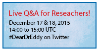 Live Twitter Q&A for researchers