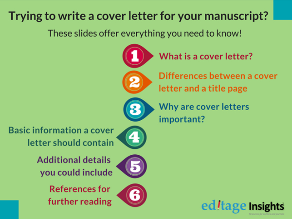 How to write a cover letter for your journal submissions