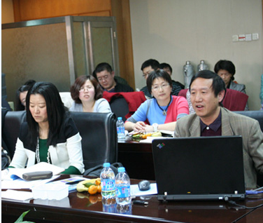 Dr. Yan at conference