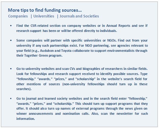 More tips to find funding from corporate sources