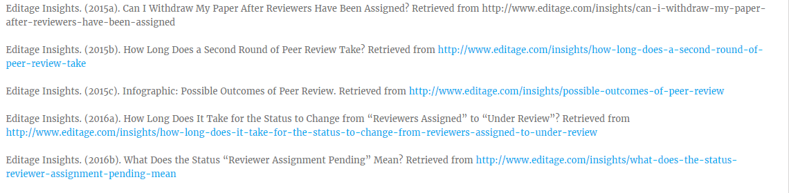 Editage Insights resources on peer review