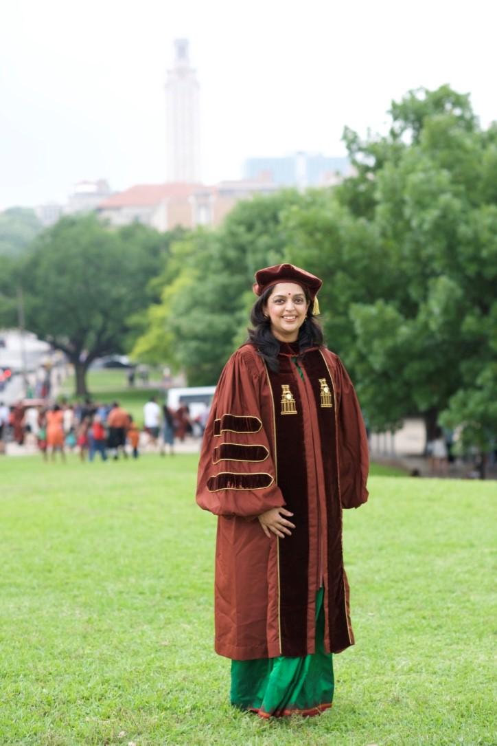 Dr. Karishma Kaushik at her PhD convocation
