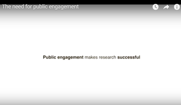 The need for public engagement
