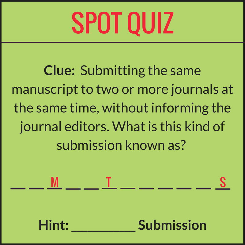 Spot quiz: An Editage Insights anniversary special