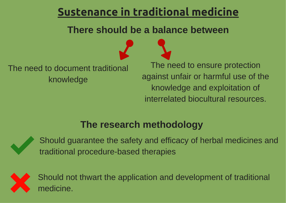 Sustenance in traditional medicine