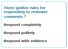 Responding to peer reviewers