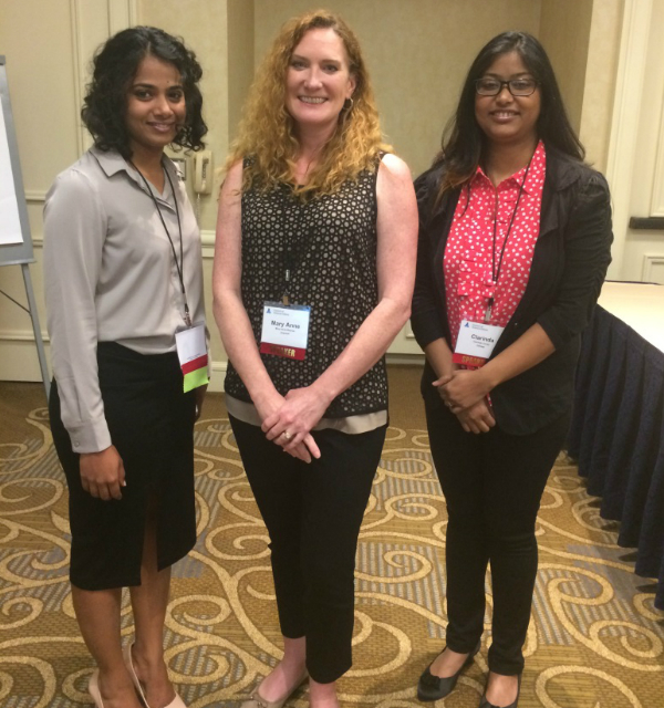 Christine Miranda,  Clarinda Cerejo, and Mary Anne Baynes at CSE 2017