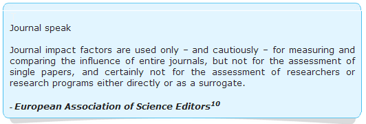 Quote on impact factor