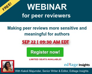 Peer review week webinar by Editage Insights